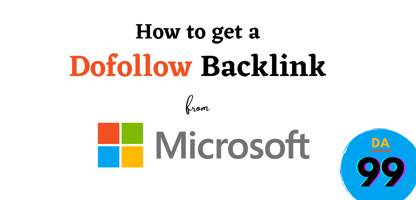 How to get a Backlink from Microsoft.com